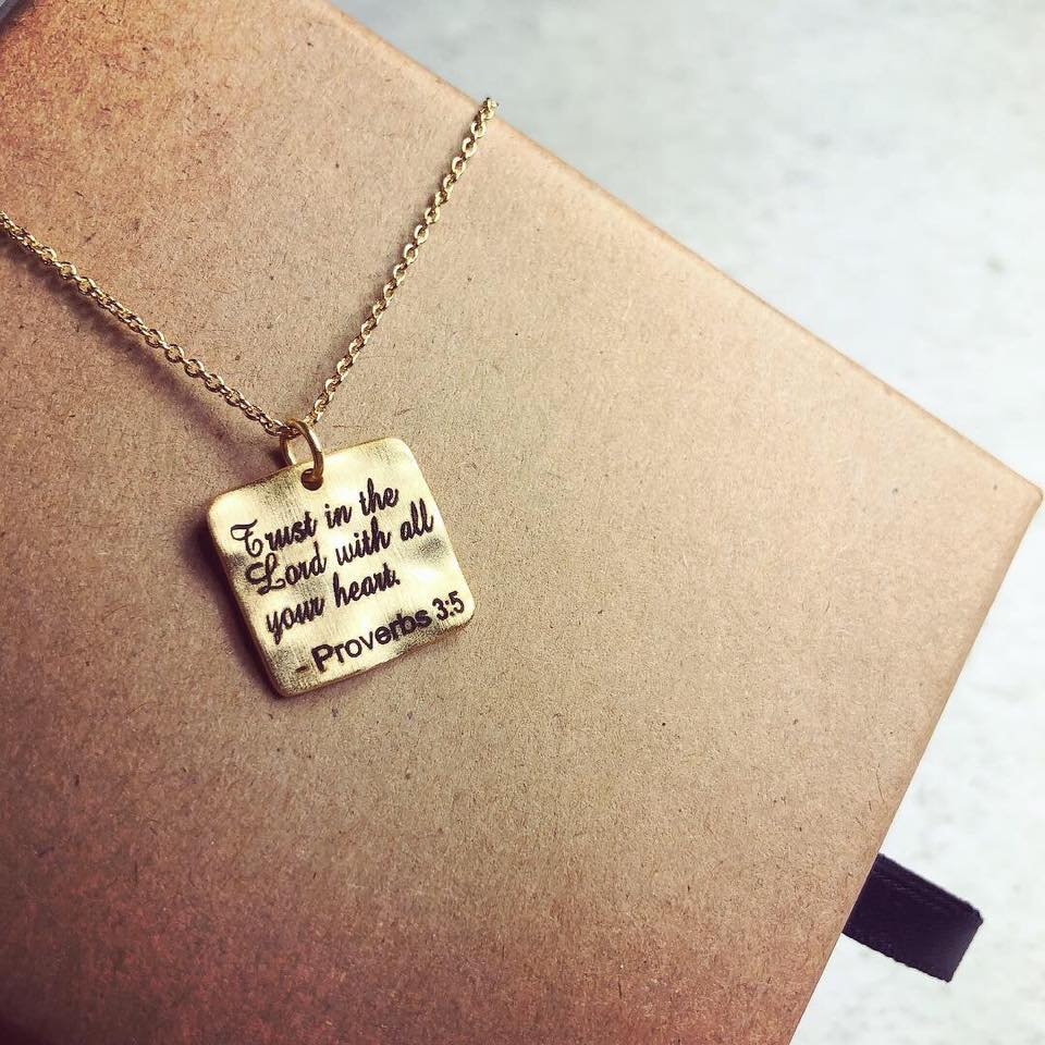 項鍊Necklace - Proverbs 3:5