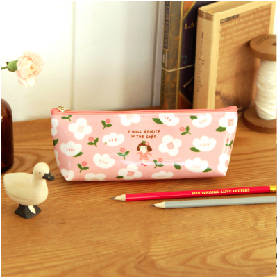 哈囉珍系列 花兒筆袋(01粉紅)