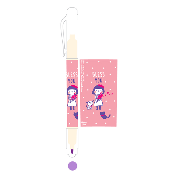 哈囉珍系列-螢光筆03紫