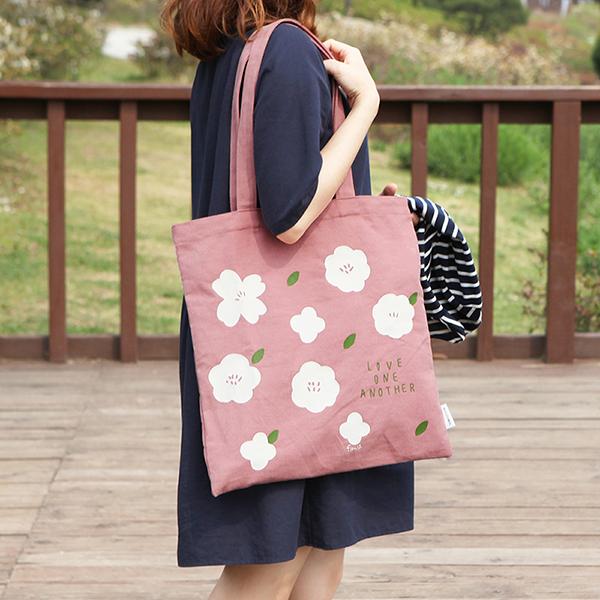 Flower 花漾系列 環保袋- 01櫻花粉