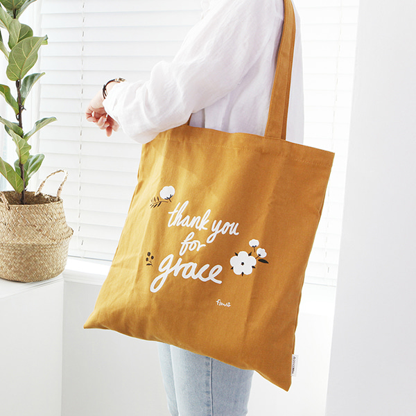 Flower 花漾系列 環保袋- 03芥末黃