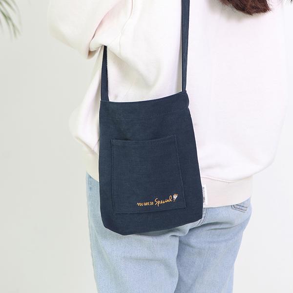 Flower 花漾系列 mini環保袋 - 01海軍藍