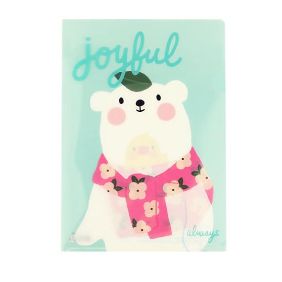 哈囉珍系列A4文件夾 - (03可米熊)