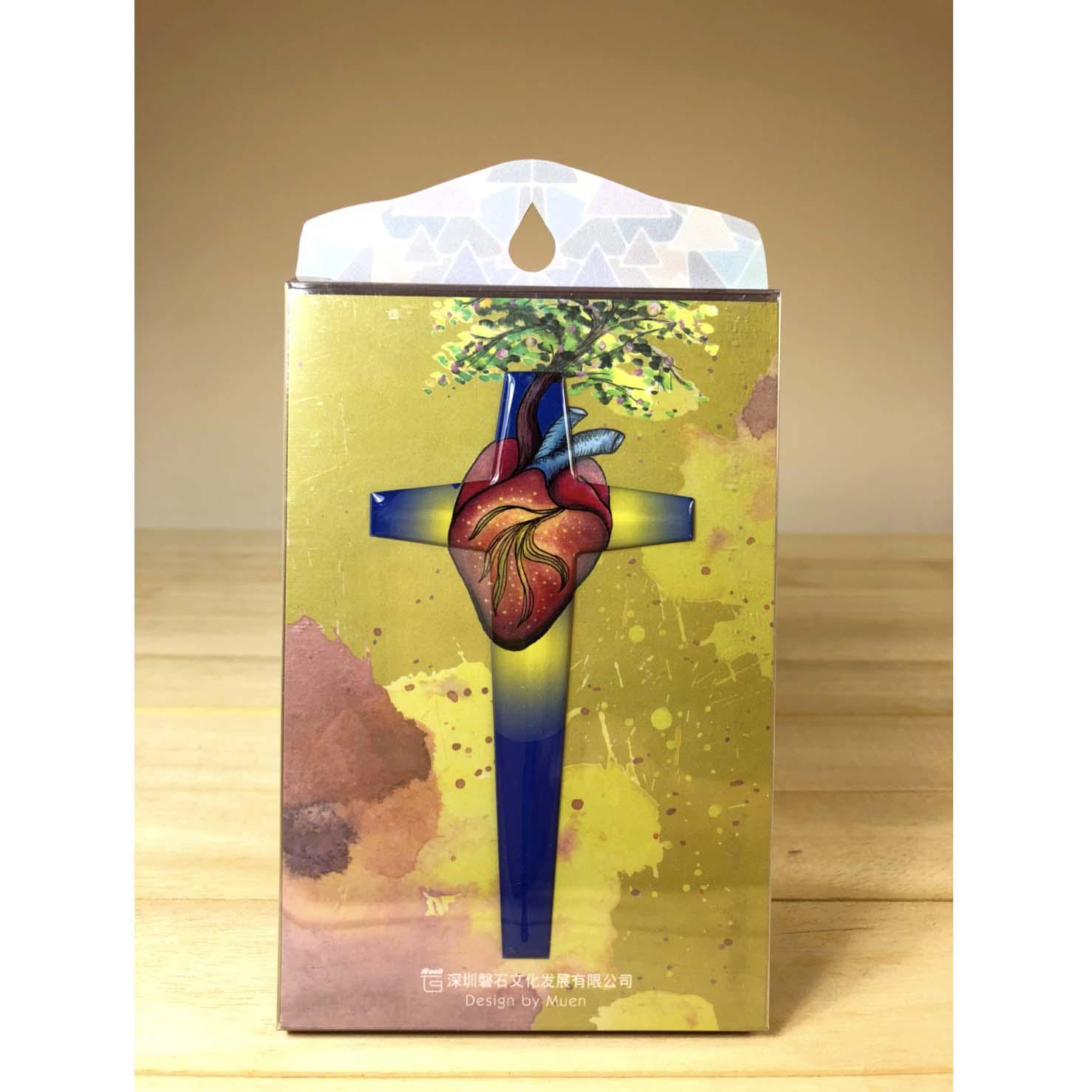 由心發出-水滴十字架裝飾貼