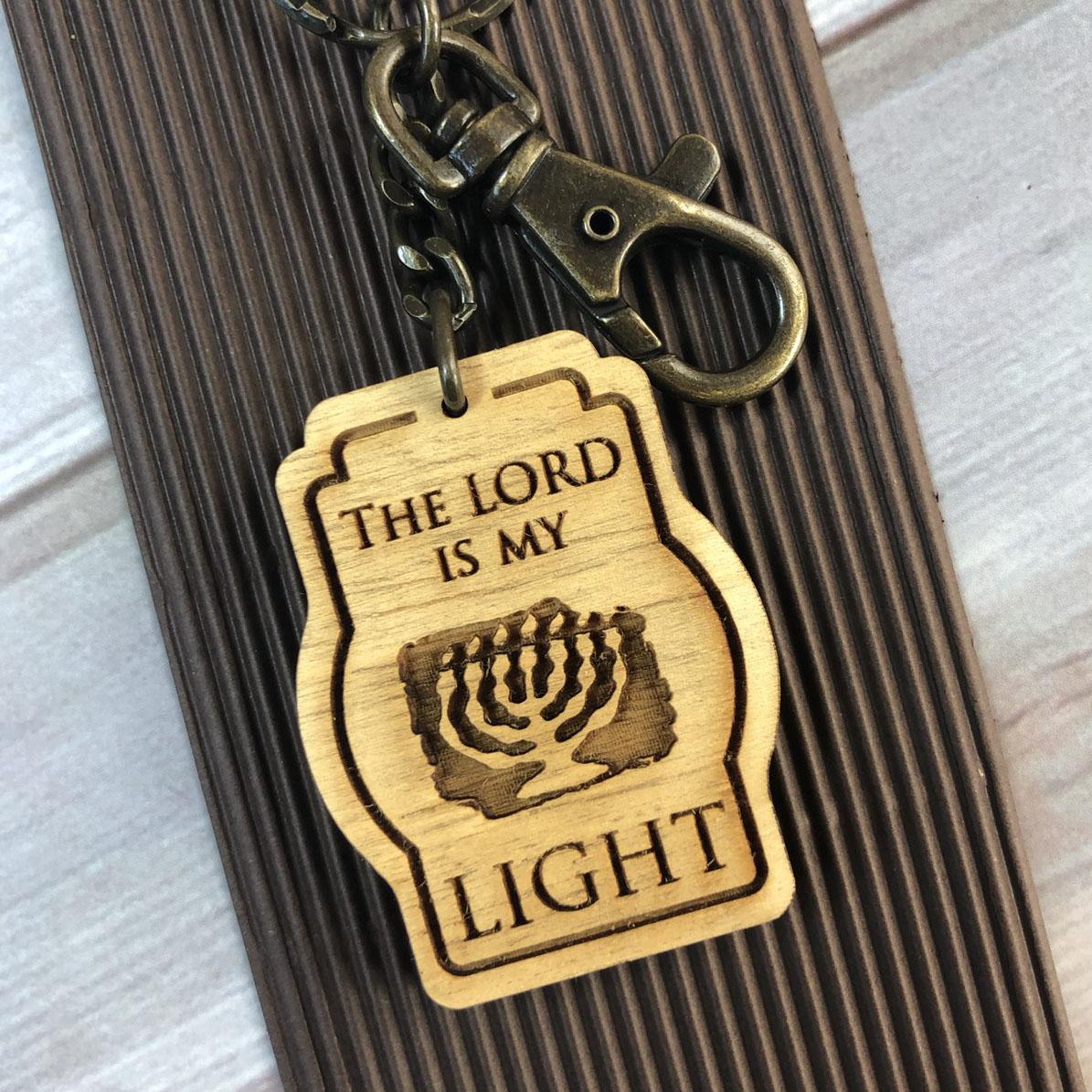 木製雷雕鑰匙圈 - 亮光