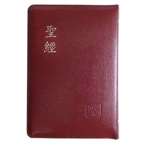 紅銀_聖經和合本紅字版皮面拉鍊索引(5系列)