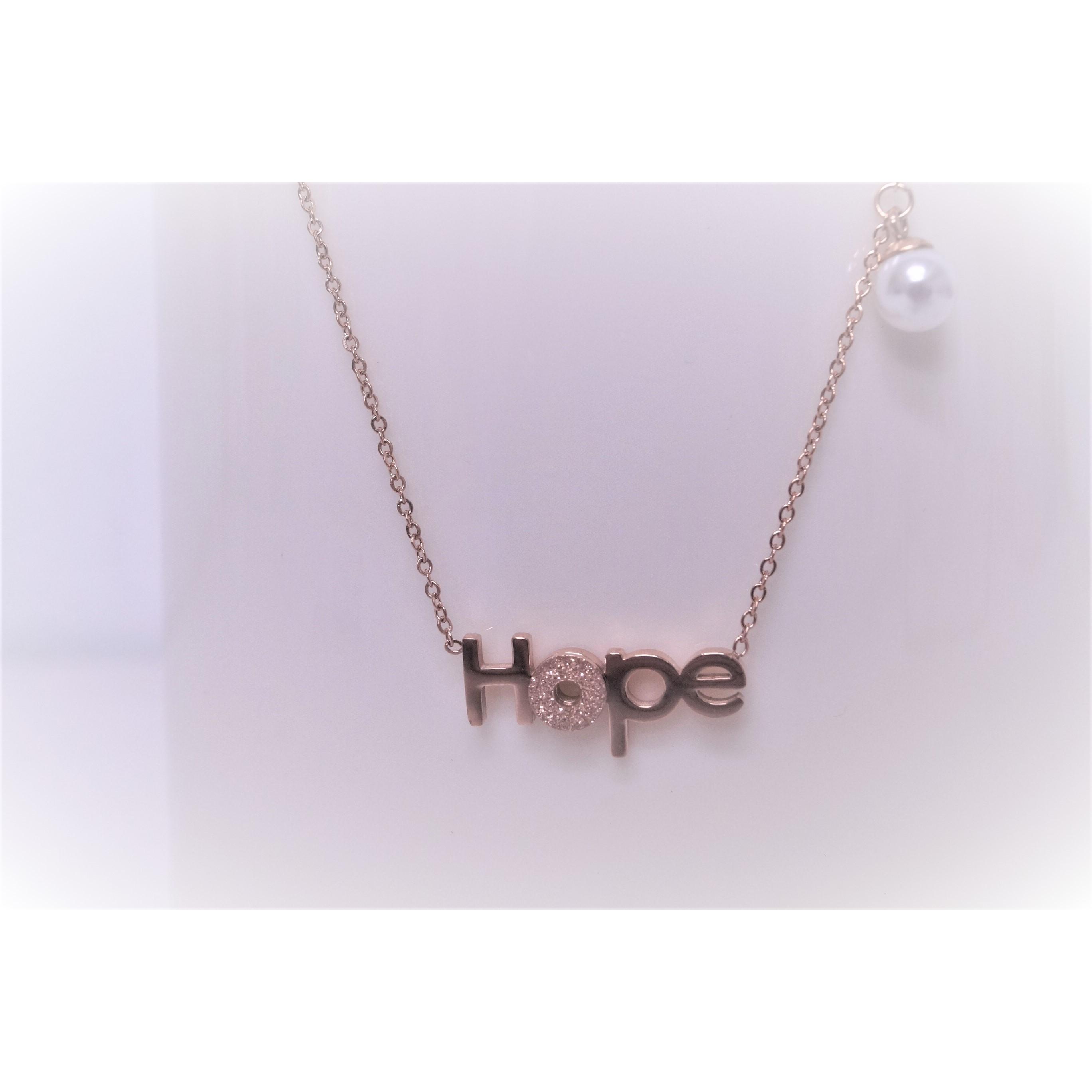 項鍊-HOPE - 玫瑰金