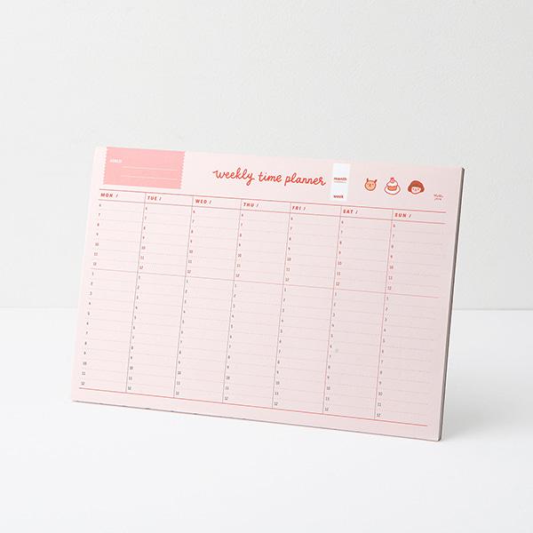哈囉珍系列 週-分時計畫表 (06.pink )