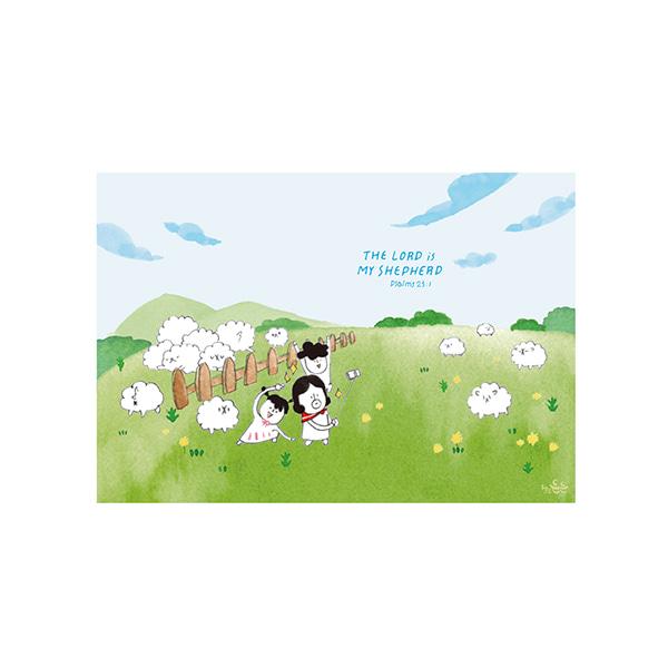插畫明信片(29羊群)哈囉登登系列