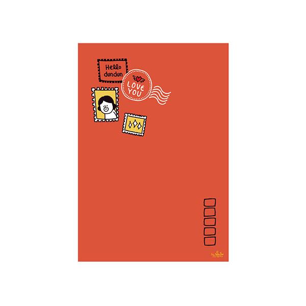 插畫明信片(32郵票登登)哈囉登登系列