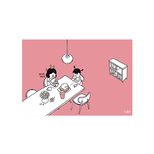 插畫明信片(34咖啡時光)哈囉登登系列