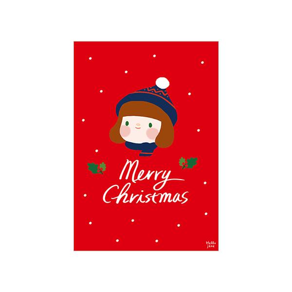 哈囉珍系列 耶誕明信片 (01.Jane)