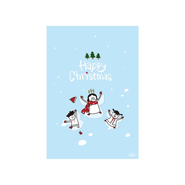 哈囉登登系列 耶誕明信片 (06.Snow)