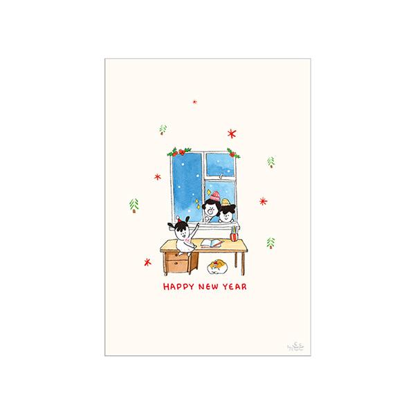 哈囉登登系列 耶誕明信片 (08.Happy New Year)
