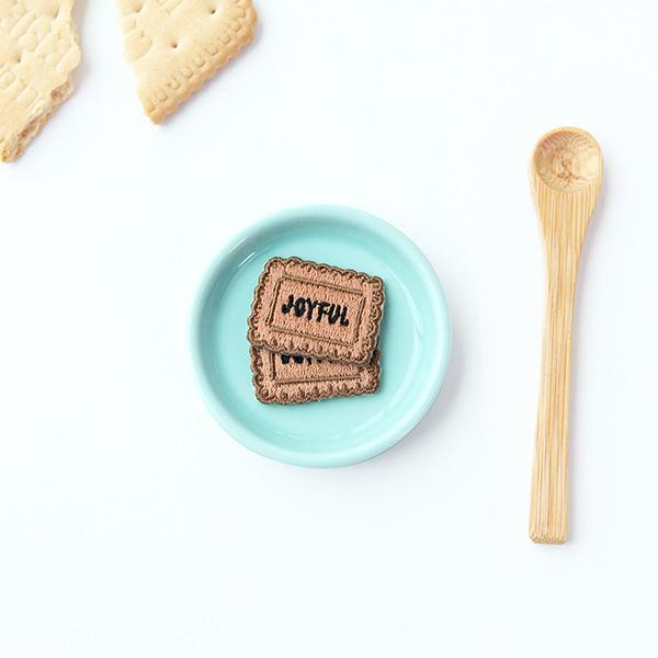 Gracebell 繡布貼 - joyful 餅乾