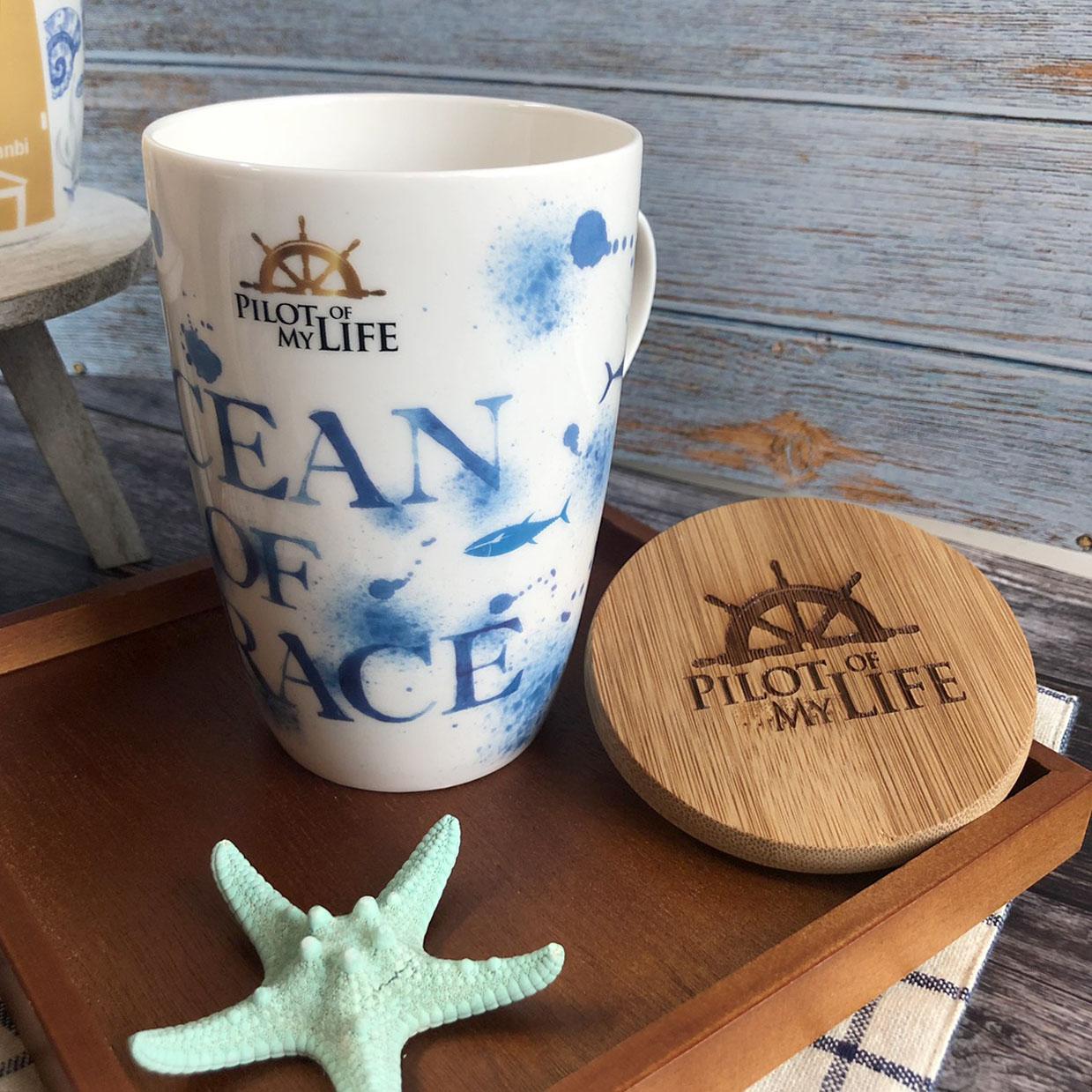 悠遊藍鯨-海洋風大馬克杯