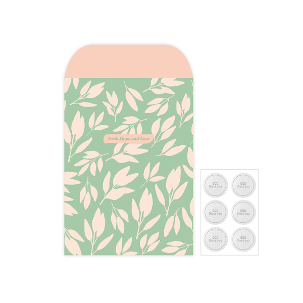 Gracebell包裝系列 信封包裝袋(L) (01.Mint tree)-6入