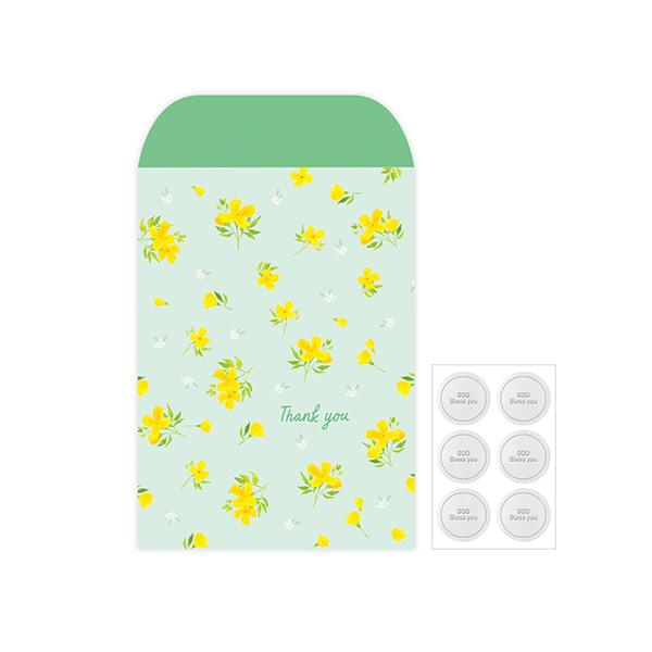 Gracebell包裝系列 信封包裝袋(L) (03.Spring yellow)-6入
