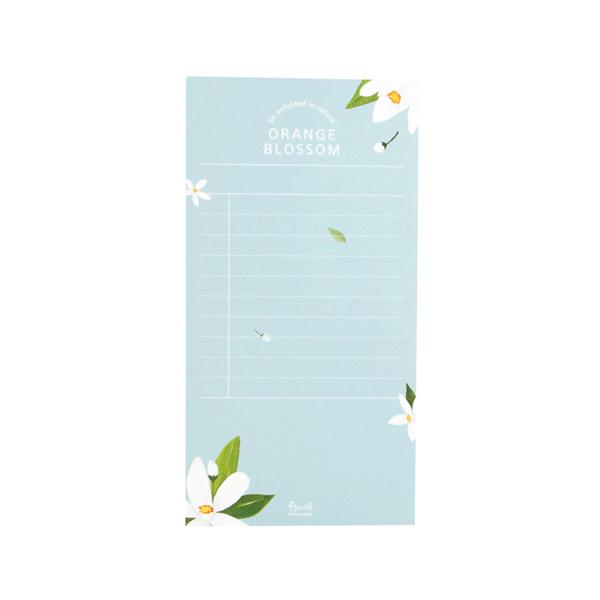 Flower 花漾系列 祕密花園便條紙(附夾鏈袋) (02.橙花)
