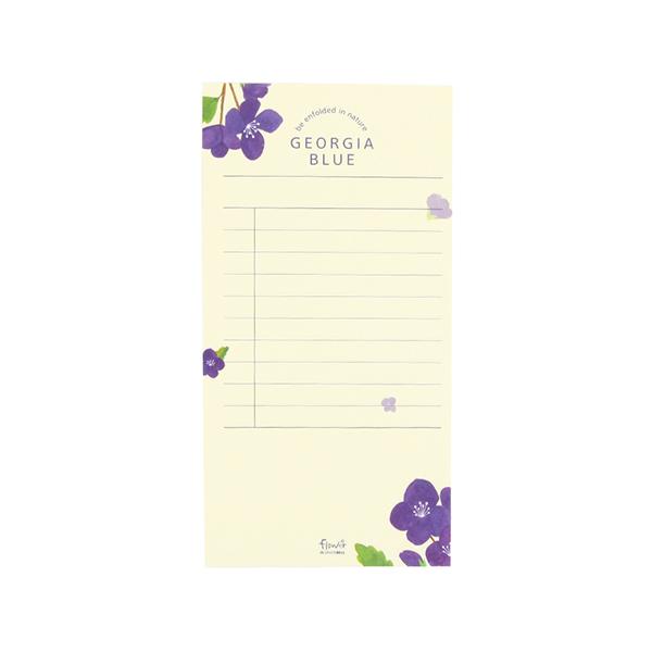 Flower 花漾系列 祕密花園便條紙(附夾鏈袋) (03.喬治亞)