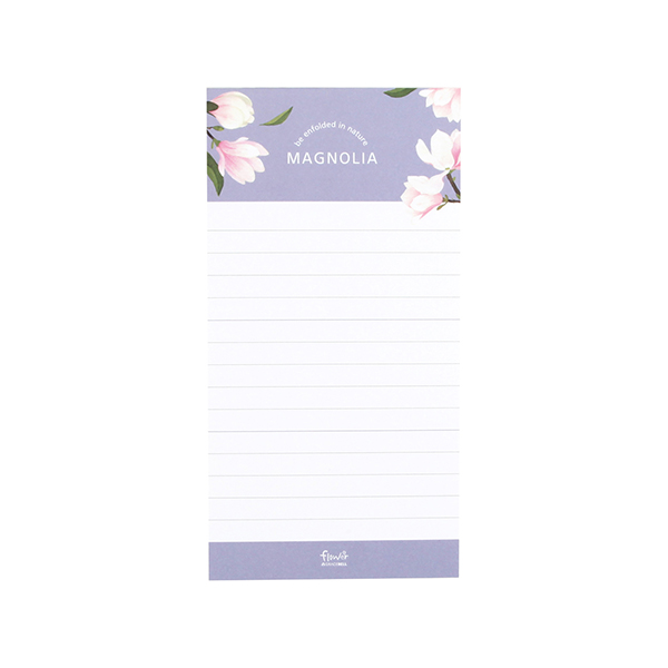 Flower 花漾系列 祕密花園便條紙(附夾鏈袋) (05.木蘭)