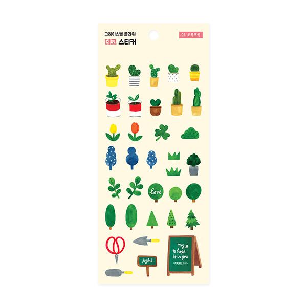 (02.植物系)裝飾貼紙-花漾系列