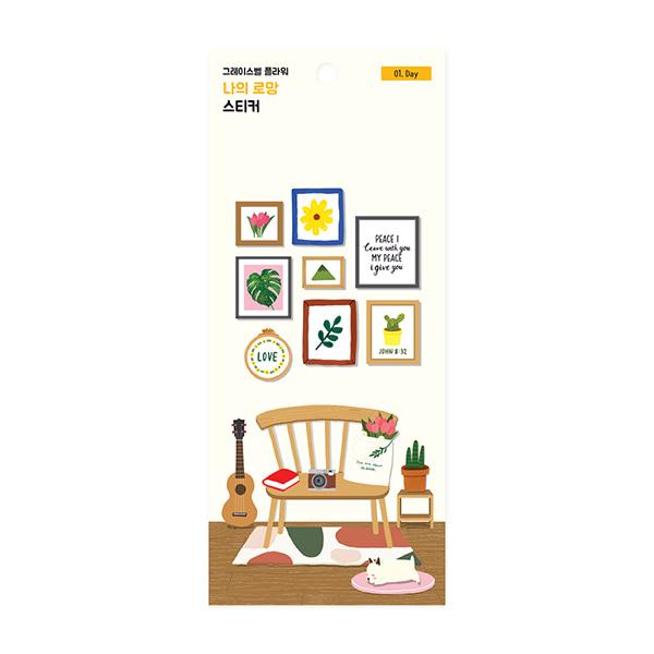 (01.Day)裝飾貼紙-花漾系列