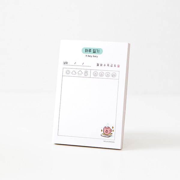 (12.單日日記)-哈囉.登登系列 掌心便條紙