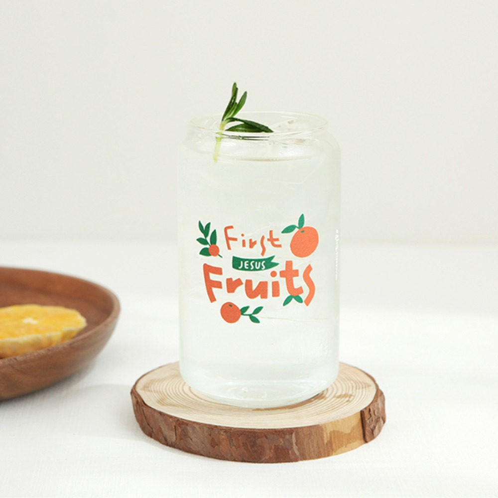 Gracebell系列 Can造型玻璃杯(400ml) 01.First Fruits