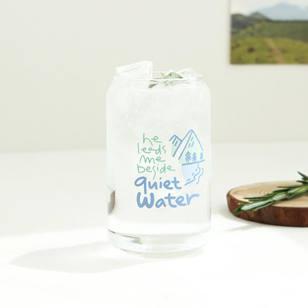 Gracebell系列 Can造型玻璃杯(400ml) 04.beside quiet water