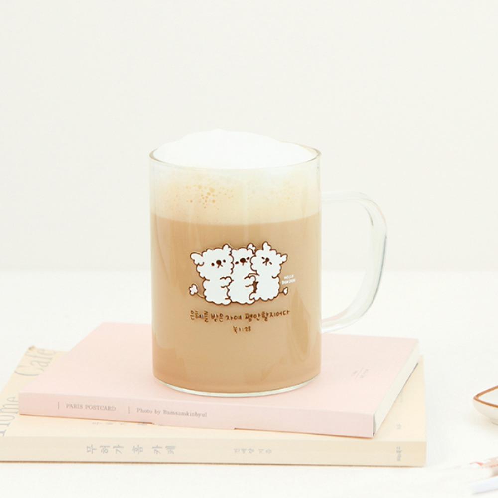 Gracebell系列 馬克玻璃杯(400ml) 04.Bi Bi