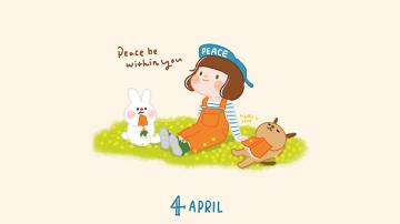 韓國設計品牌|葛莉絲貝兒-4月份桌布