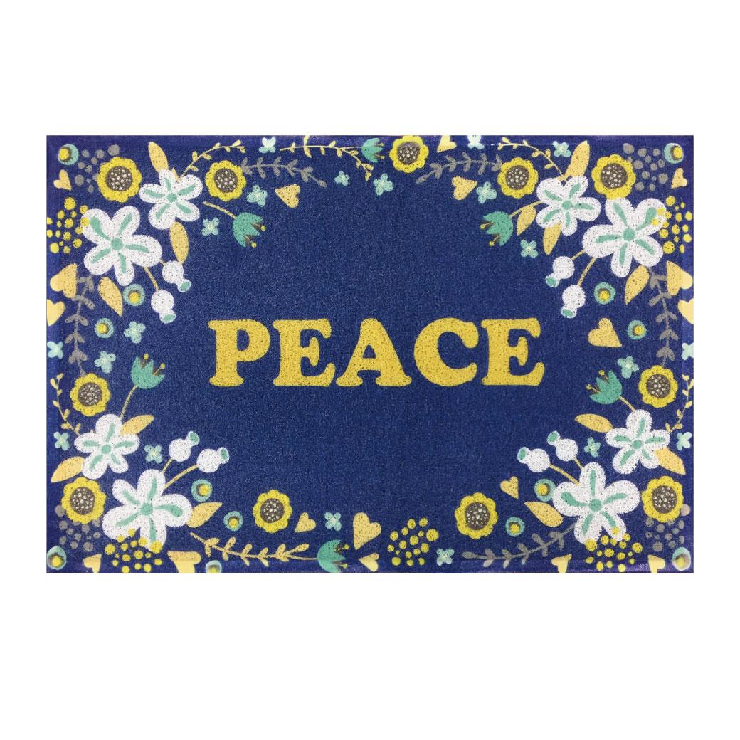 PEACE/室外地墊(藍)
