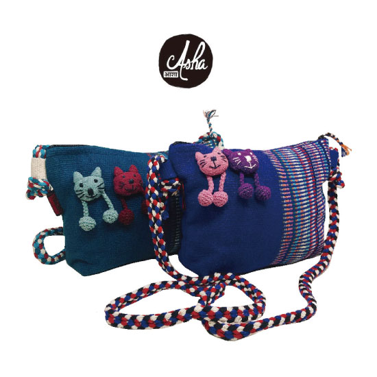 小貓側背包-Asha