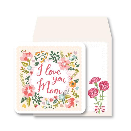 蕾絲花草/母親節小卡