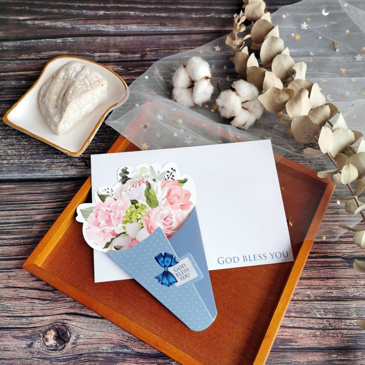 典雅藍/花束卡片
