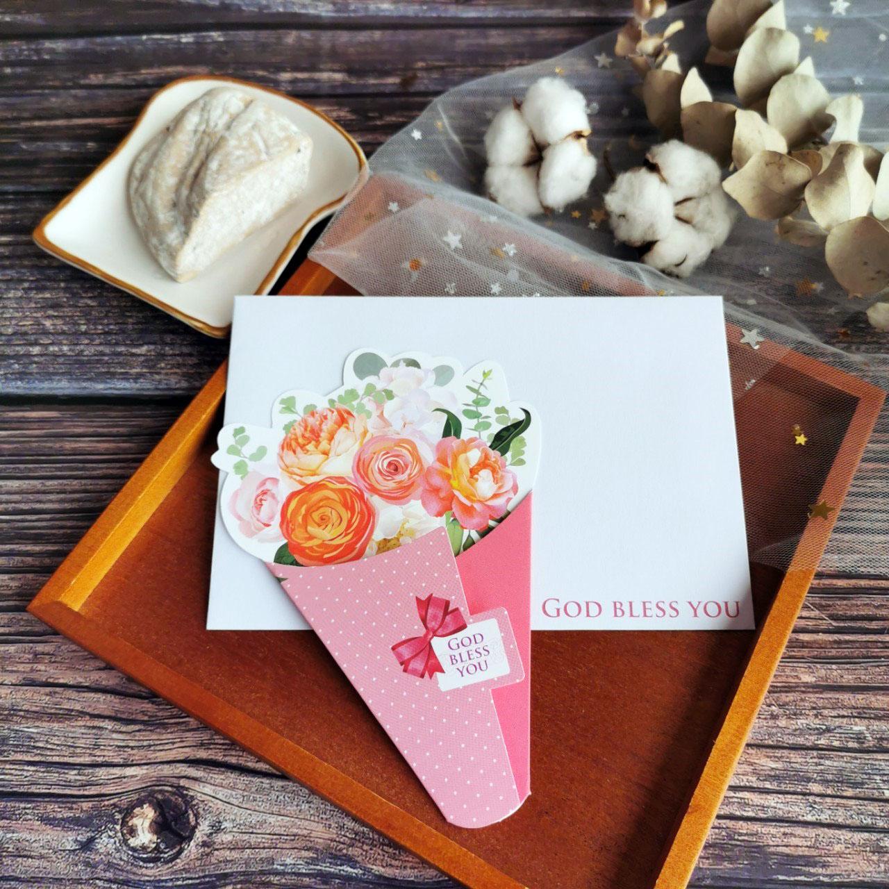 幸福粉/花束卡片