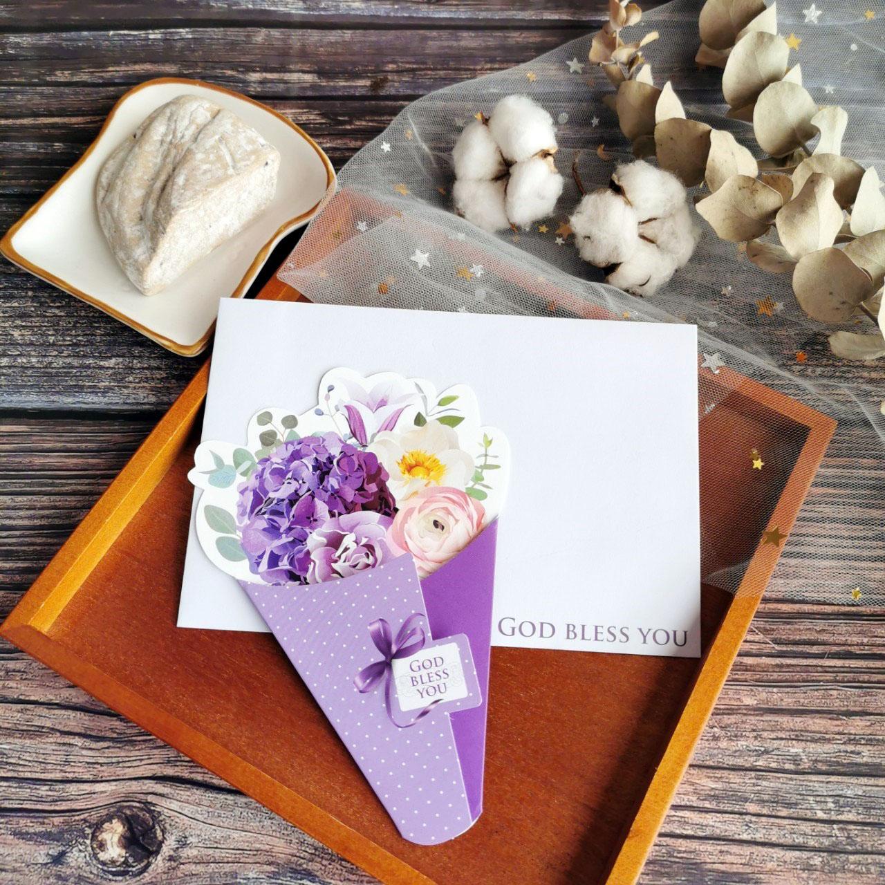 尊貴紫/花束卡片