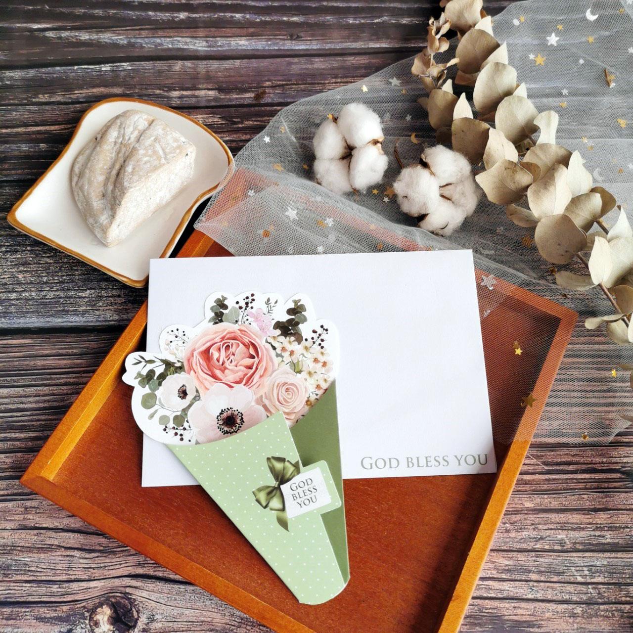 溫柔綠/花束卡片