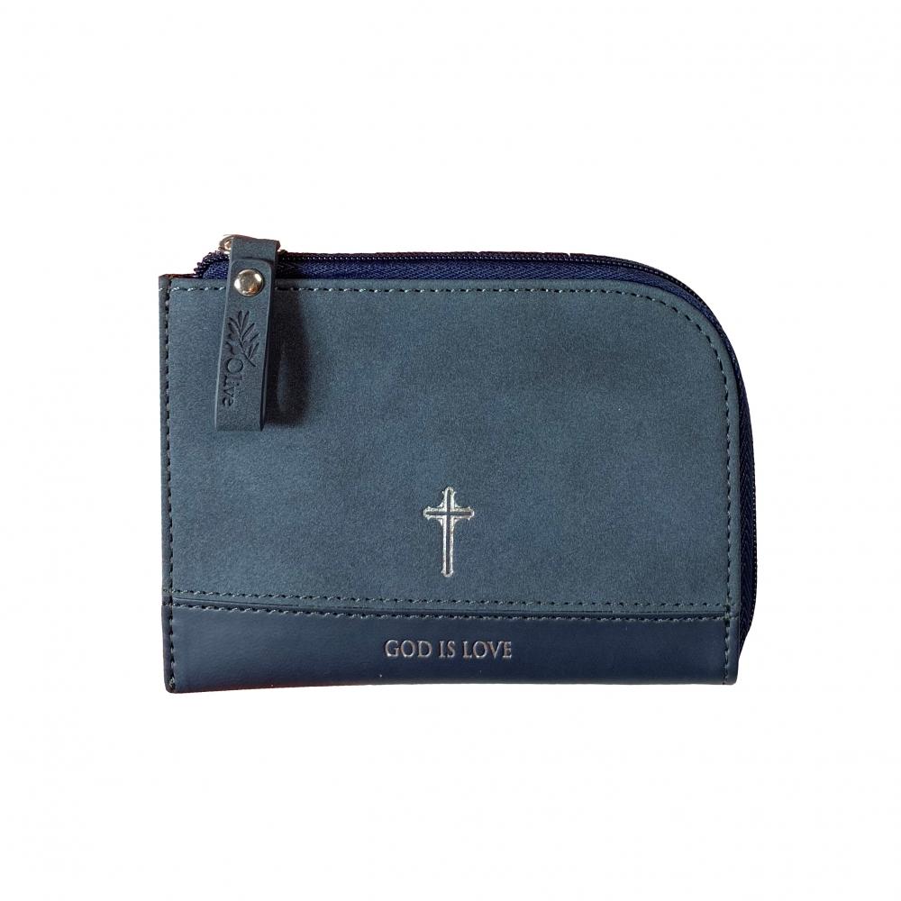 神是愛/藏藍零錢包