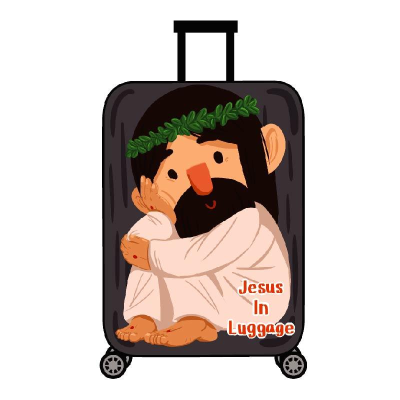 耶穌關懷防水貼紙-行李款