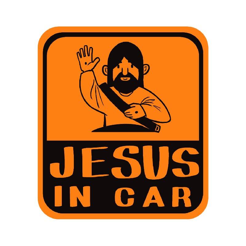 耶穌關懷防水貼紙-車子款